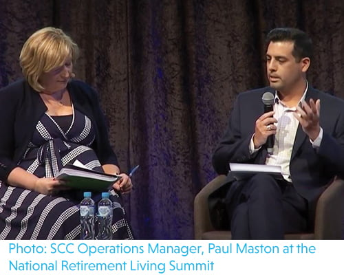 SCC Operations Manager, Paul Maston at the National Retirement Living Summit